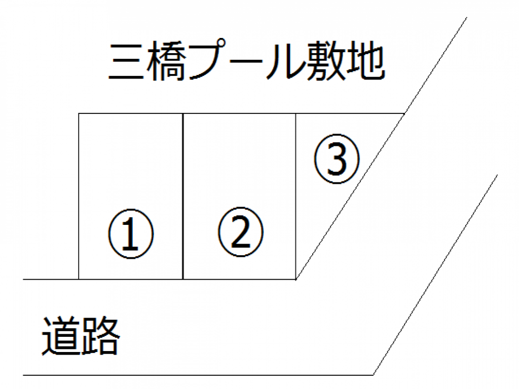 【予約制】トメレタ 井原織物三橋六丁目月極・一日貸し駐車場の写真URL1(車室図)