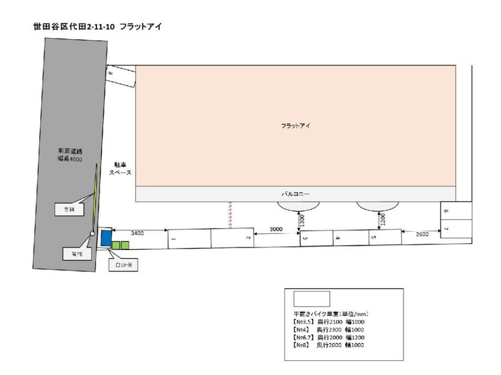 【予約制】トメレタ 代田2丁目駐車場【バイク専用】の写真URL1(車室図)