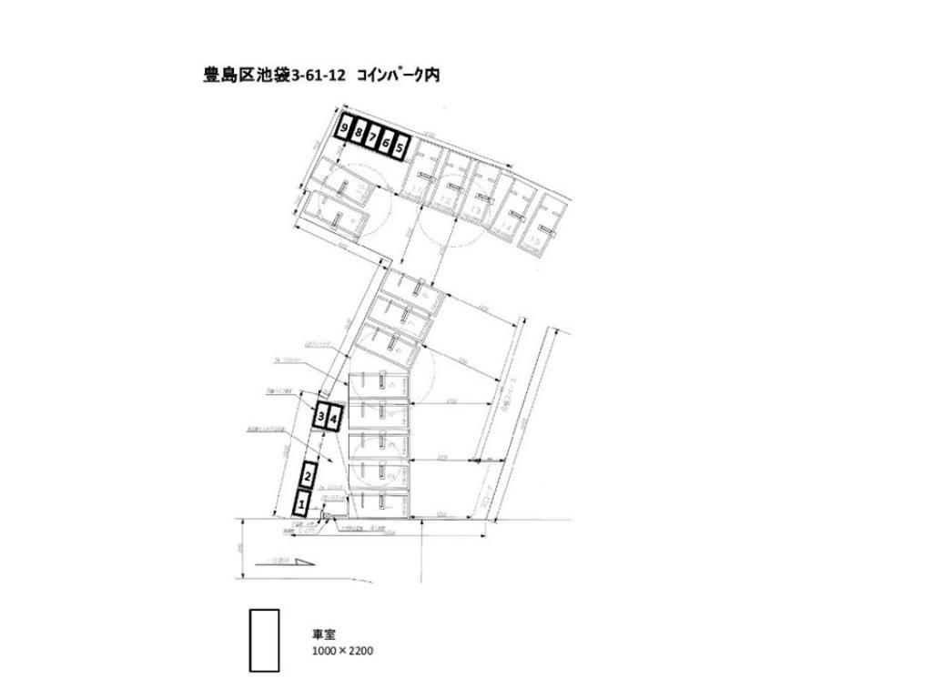 【予約制】トメレタ 池袋3丁目駐車場【バイク専用】の写真URL1(車室図)